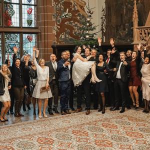Noch ein Gruppenfoto im Rittersaal…