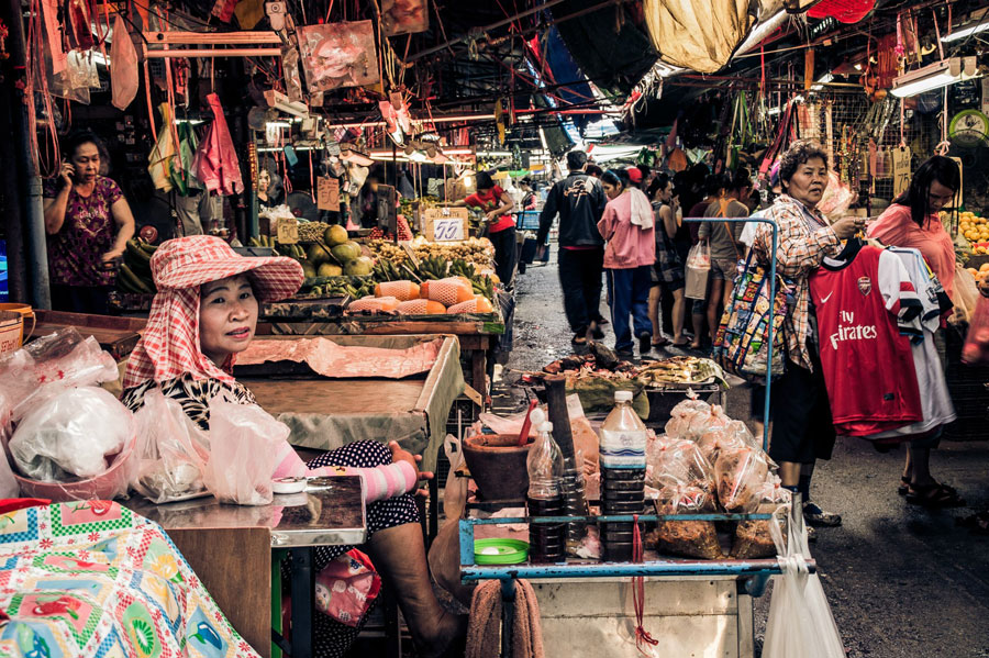Marktszene Bangkok