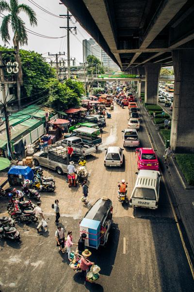Straßenszene Bangkok